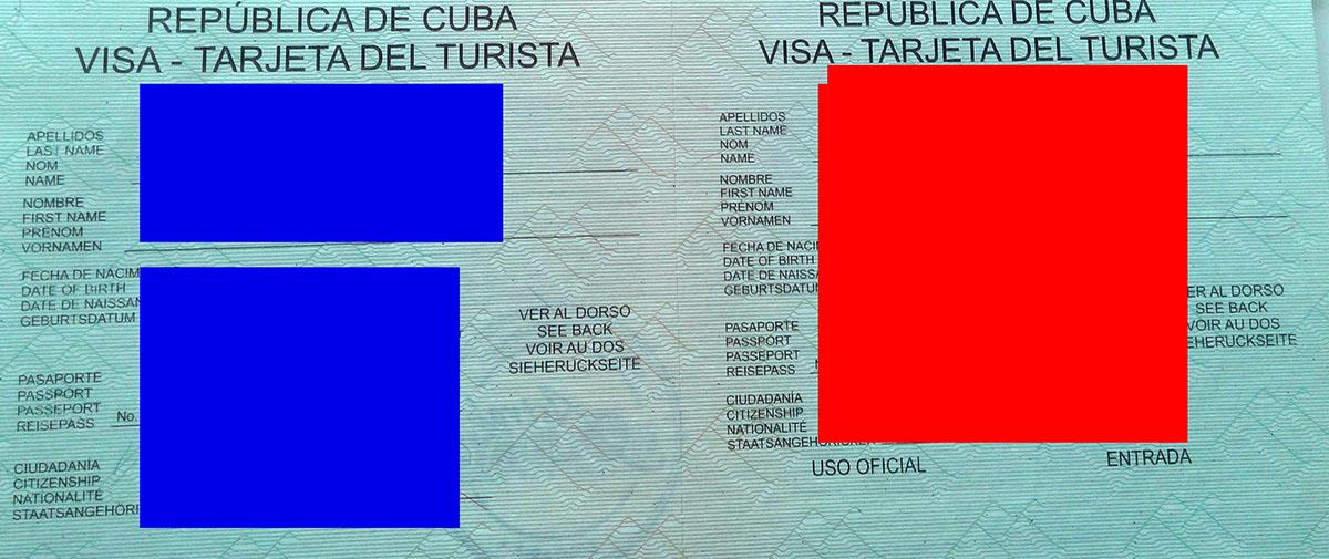 Виза за Куба