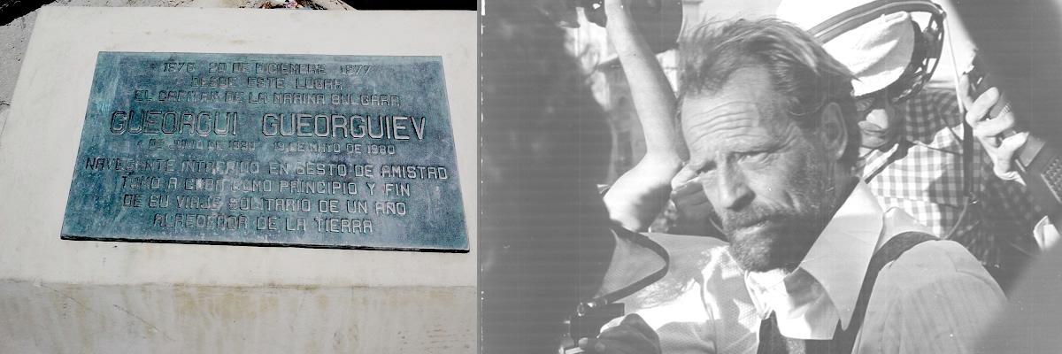 Георги Георгиев-Капитана. Мореплавателя започнал и завършил своето околосветско пътешествие от Куба 1976-1977.