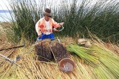 Племето Уроси Титикака Перу